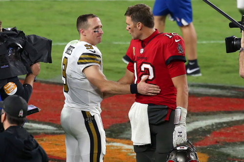 #9 Drew Brees und #12Tom Brady